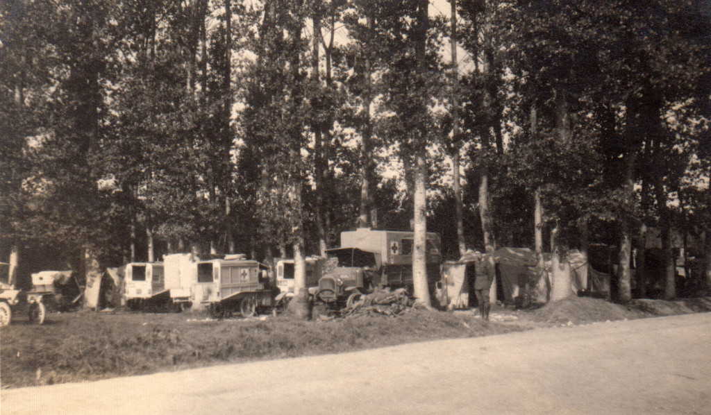 Hiding Ambulances in Vassigny, 1918