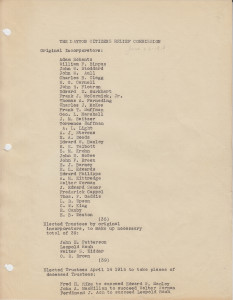Dayton Citizens Relief Commission, list of original incorporators. From the Miami Conservancy District Records (MS-128), Box 1, File 2. (click to enlarge)