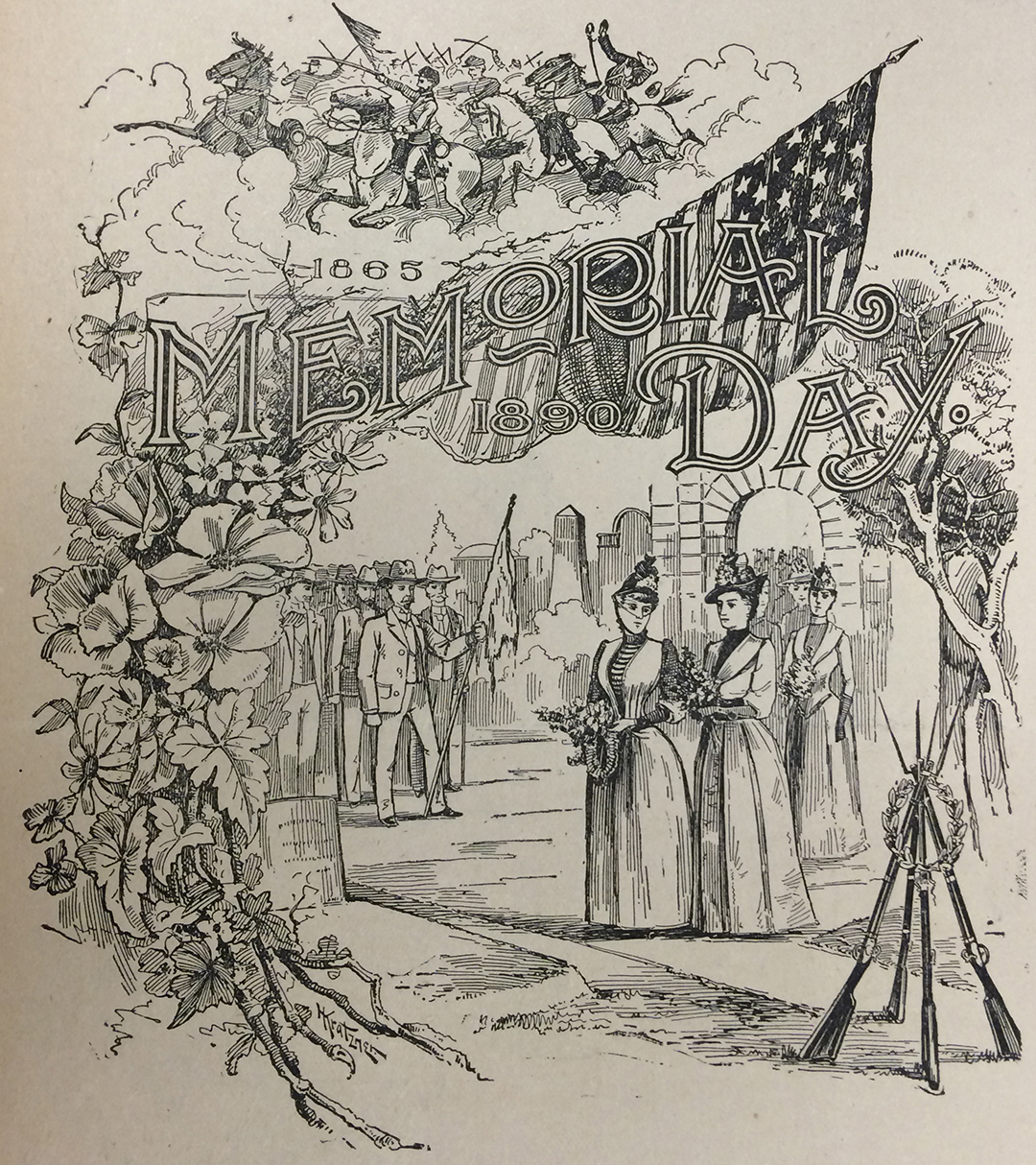 Memorial Day illustration from the Wright Brothers' newspaper, The Evening Item, May 24, 1890.