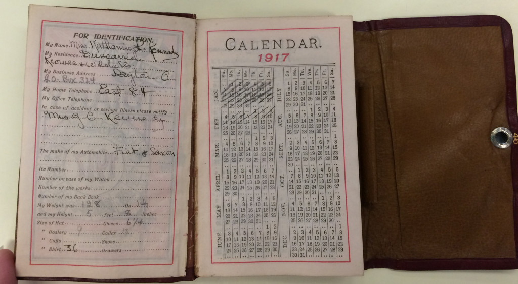 Katharine Kennedy's 1917 diary, MS-146, Box 10, File 1