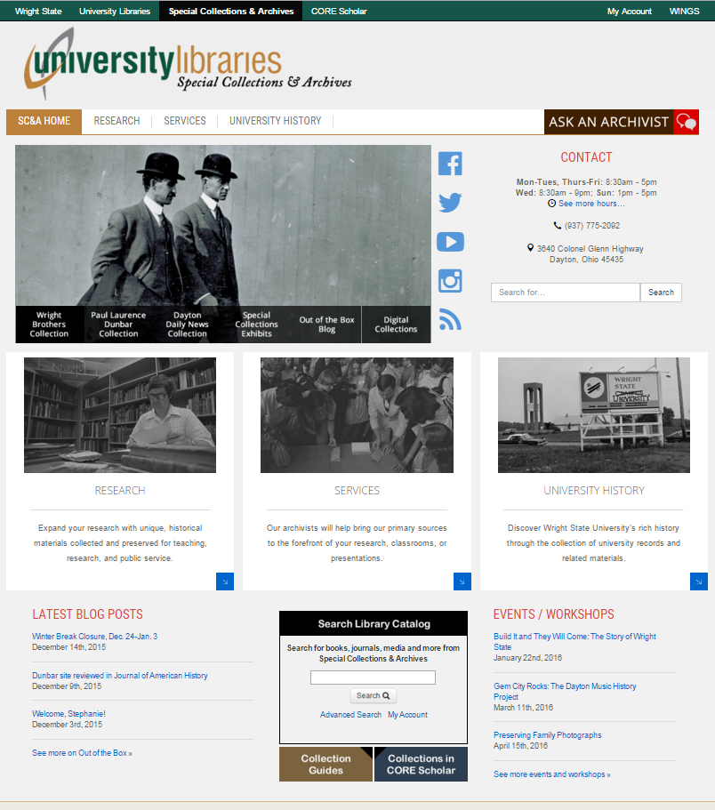 New Special Collections & Archives homepage, coming soon