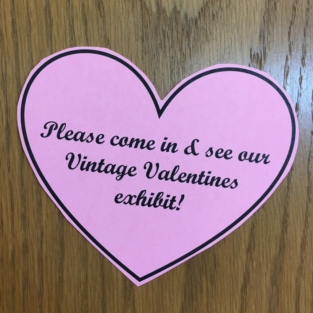 Vintage Valentines Exhibit Welcome