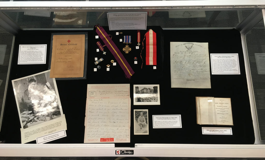 Veterans materials exhibit, April 2016