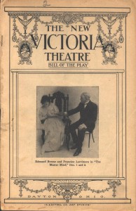 MS-360, Victoria Theatre Collection. The New Victoria Theatre, Bill of the Play