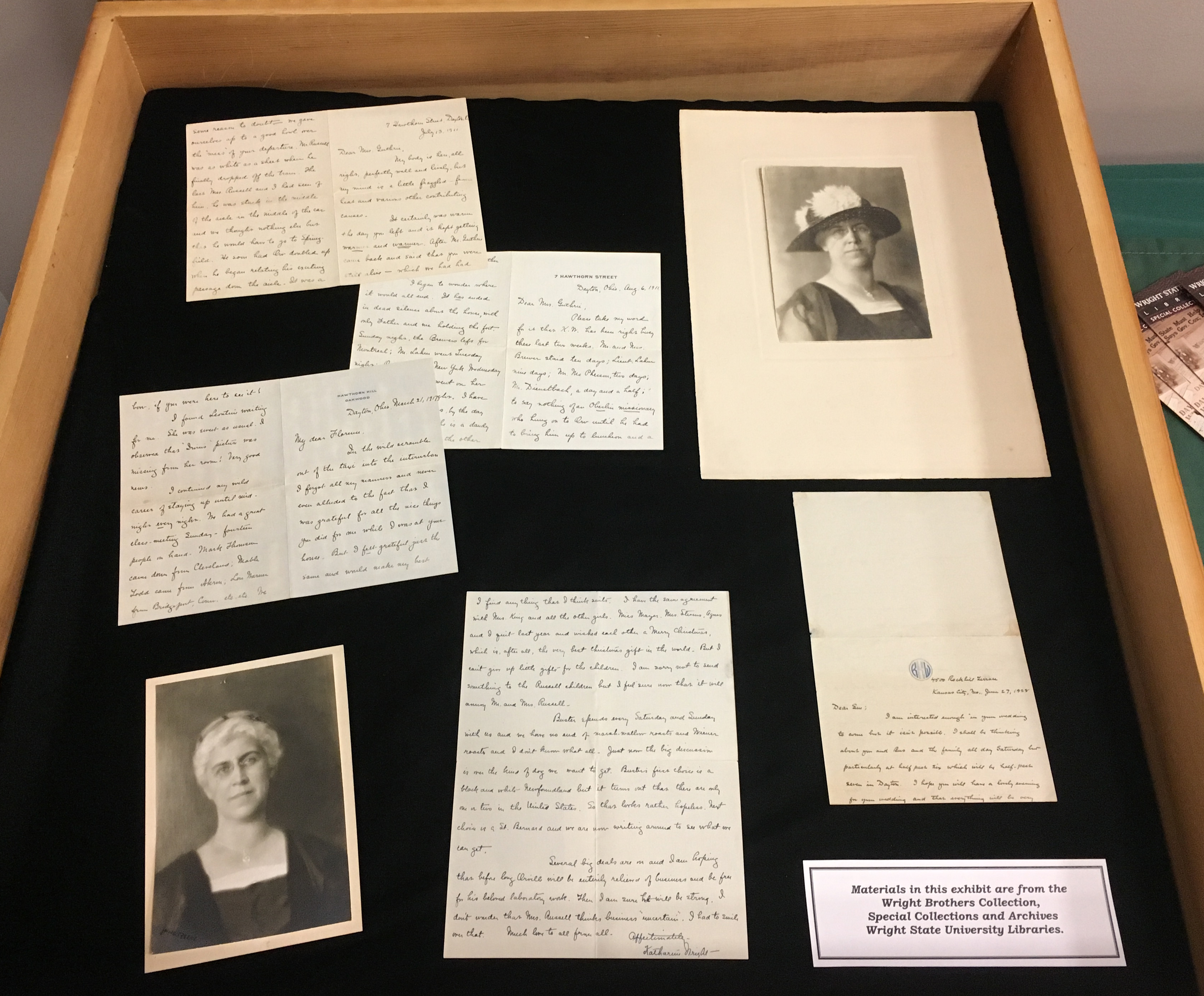 Katharine Wright correspondence, WSU Special Collections & Archives
