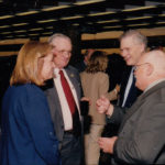 Dawne Dewey, Head of SC&A, and Neil Armstrong (red tie), October 24, 2002