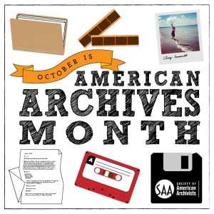 American Archives Month logo for 2019
