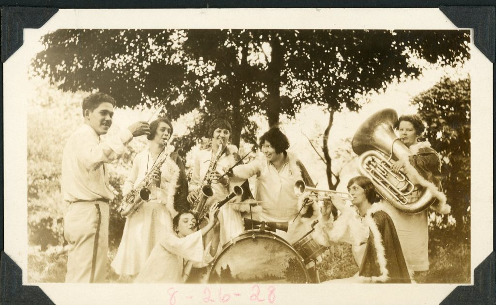 Harmony Flyers band at Washington Court House, Ohio, 1928