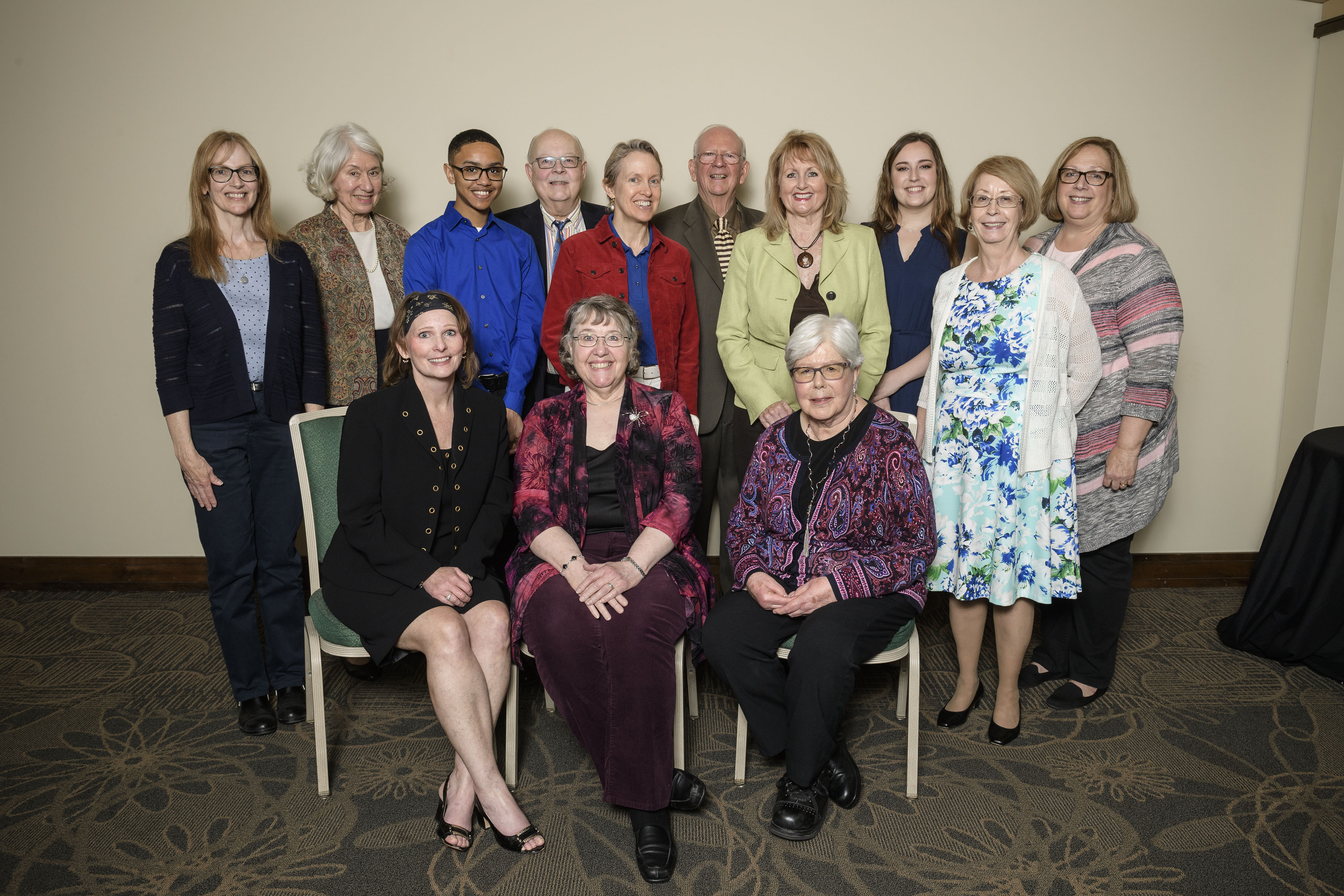 Photograph of 13 Friend of the Libraries Board Members)