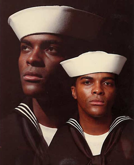 Willie J. Moncree, Jr. in U.S. Navy uniform, circa 1987