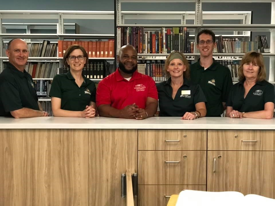 Photo of Dunbar Library staff who helped Library and Technology Center Director, Jamon Flowers, with the move