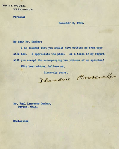 A Letter from President Theodore Roosevelt, 1904