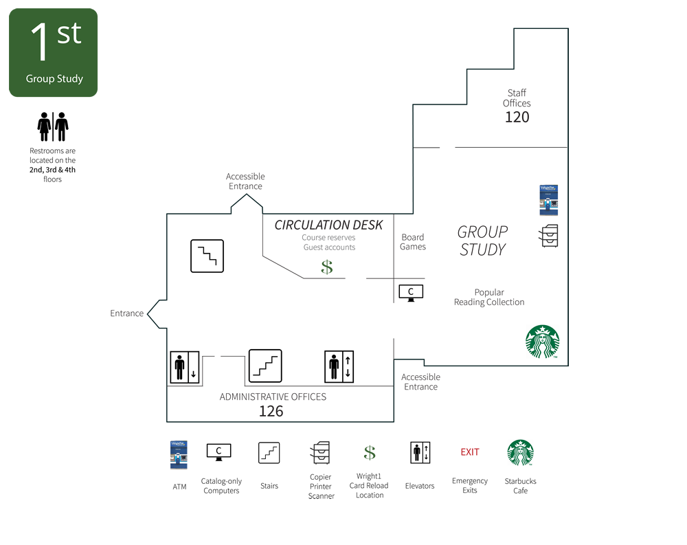 Dunbar Library First Floor Map